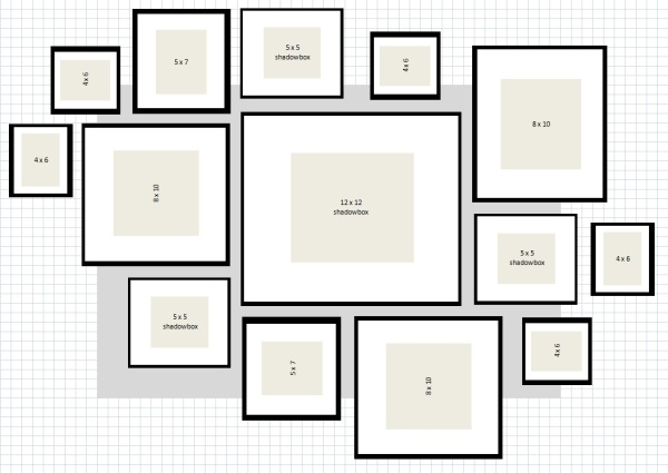 Ikea frame layout ideas native home garden design for Wall templates for hanging pictures