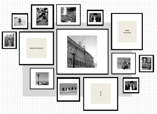 How To: IKEA Ribba Frame Gallery Wall |